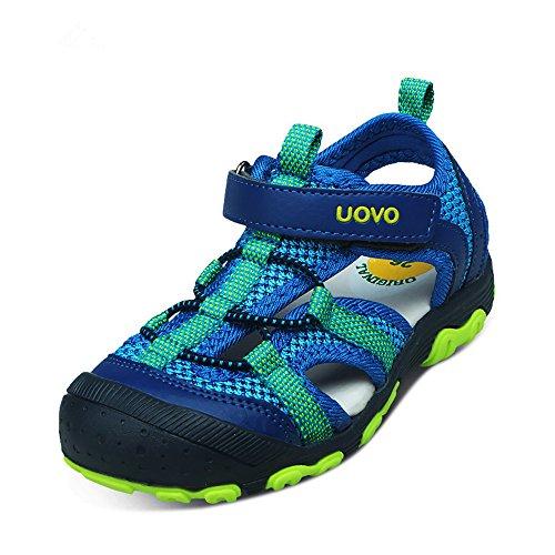 Kinder Sandalen Jungen Sport Outdoor Trekkingsandalen Sommer Strand Schuhe mit Klettverschluss - Vorne Geschlossen
