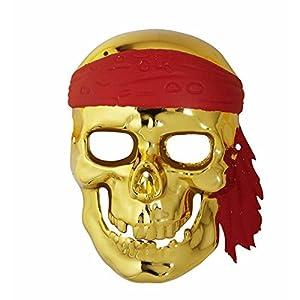 WIDMANN Mascara Calavera Pirata dorada adulto Medieval