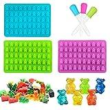 Sue Supply Moldes de silicona para cubitos de hielo hechos a mano, diseño de oso de caramelo, 50 cavidades