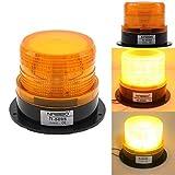 LCLrute Hohe Qualität LED Auto Warnleuchte Notlichtbirne Bernstein Blinkende Strobe Beacon 12V-24V (Gelb)