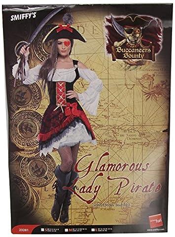 Piratinkostüm Piratin Kostüm für Damen Piraten Braut 36-42, Größe:L (Piraten Ideen Kostüme)