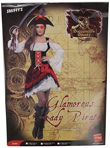 Kostüme Pirat Dame (Piratinkostüm Piratin Kostüm für Damen Piraten Braut 36-42,)