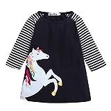 feiXIANG Kleinkind Röcke Kinder mädchen Mädchen Prinzessinnenkleid Weihnachten Babykleidung Kleider Outfits Mädchen Hemdkleid kleiden für Kinder (120, Navy)