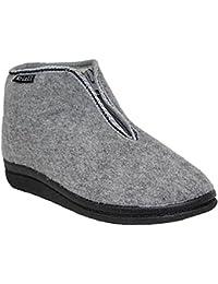 6361f19811e0 Ladies Wool Sheepskin Faux Fur Lined Slip On Elastic Gusset Low Wedge Flat  Moccasin Hard Sole Boot…