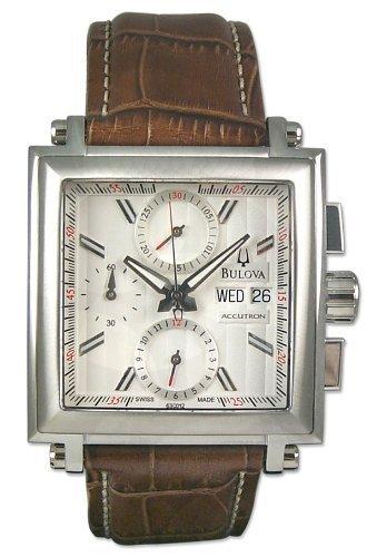 bulova accutron 63c012 orologio uomo automatico eta valjoux 7750 cronografo day date bianco
