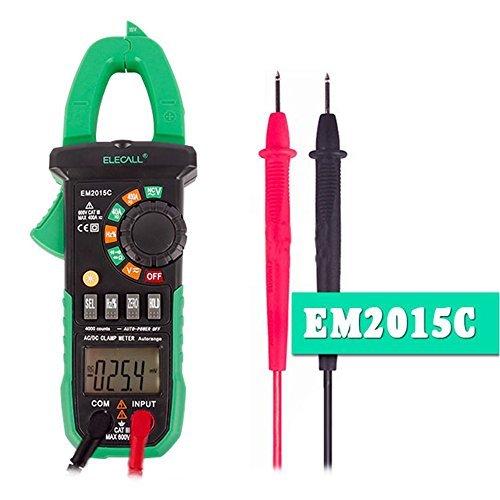 elecall DC Strom und Kapazität Messung digitale Strommesszange NCV Duty Cycle mit Taschenlampe Leichtes Trennen der Draht (Digital Trennen)