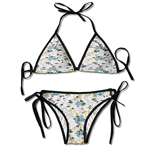 Hot Summer Women's Bikini,Leaves Poison Ivy Plant Sexy Bikini 2 Pieces