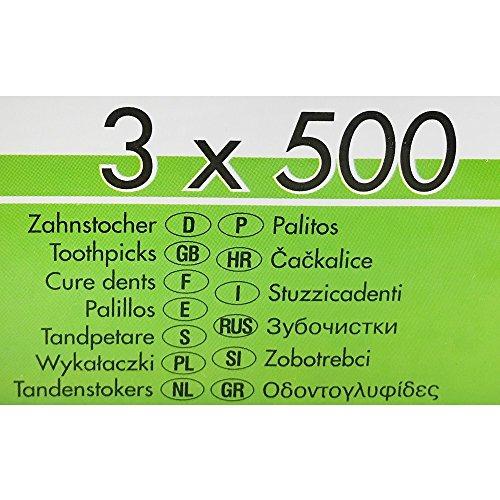 1500 Zahnstocher, Holz rund 6,7 cm in Dose PS10054 - 4