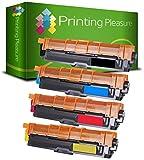 Printing Pleasure 4 Compatibles Brother TN-241 TN-245 Cartuchos de tóner para Brother DCP-9020CDW MFC-9140CDN MFC-9330CDW MFC-9340CDW HL-3140CW HL-3142CW HL-3150CDW HL-3152CDW HL-3170CDW HL-3172CDW MFC-9130CW - Negro/Cian/Magenta/Amarillo, Alta Capacidad