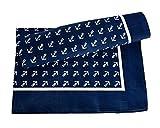 YACHTICON Viereck-Halstuch mit Ankermotiv, Farbe:blau