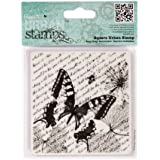 """Entomologist - Square 4x4"""" Urban Cling Rubber Stamp Paper Print Craft"""