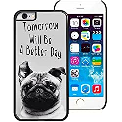 "Funda con imagen de carlino para telefono iPhone 6 (4.7"") -PC/Black"