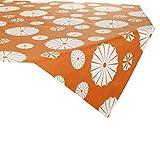 Linum Mitteldecke orange Größe 100x100 cm