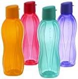 #8: Tupperware Flip Top Water Bottle Set, 750ml, Set of 4