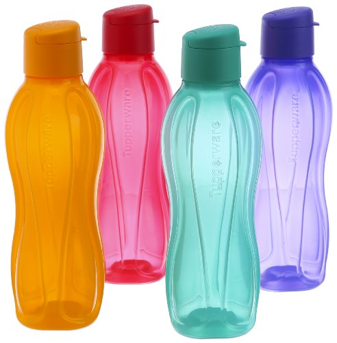 Tupperware Fliptop Wasserflasche Set, 750ml, 4erSet