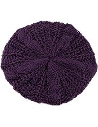 Béret tressé Crochet Chapeau Bonnet ski des Femmes Style Mode Tricotés