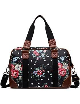 Miss Lulu Handtasche, Schultertasche, Damen, Eule, Schmetterling, Blumen, gepunktet, Wachstuch. Zum Reisen, über...