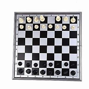 YBWEN-Chess Internationales Schachspiel Magnetische Reise-Schachspiel mit Klappschachbrett Lernspielzeug for Kinder und…