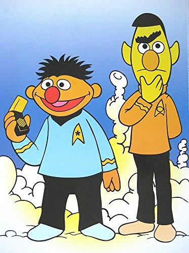 Sesamstrasse Sesame Street Poster Ernie & BERT Captain Kirk MR. Spock