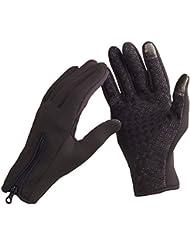 Anself Unisexe étanche chaud thermique Gants de sport nowboard Ski Equitation Cyclisme Vélo Outdoor coupe-vent d'hiver gants touche tactile à écran silicone Palm