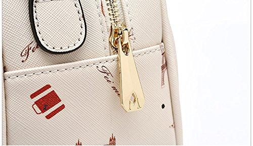 Pacchetto personalità di moda, versione coreana di borse, zaino obliqua spalla, piccolo pacchetto fresco selvaggio ( Colore : Beige ) Beige