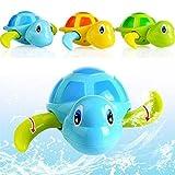 Ggdoo Turtle Bagno Bagno Giocattolo di Giocattoli Acquatici Wind Up Tartaruga di Nuoto Piscina Animale idromassaggio all'aperto Giocattolo per i Bambini Scioglimento Giocattoli