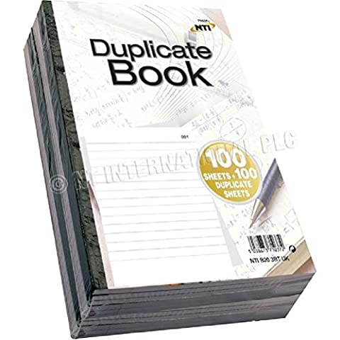 Fun Daisy 5 X Duplicate Book 200 Sheets Lines Ruled Receipt Notebook Carbon Paper by Fun Daisy Home Series