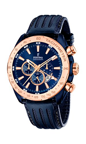 Festina Herren-Armbanduhr Chronograph Quarz Leder F16897/1