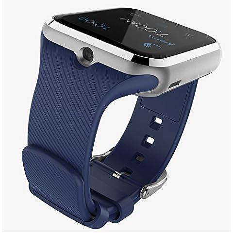 Smartwatch Aleación de aluminio de zinc A108 HD plana llamada comunicaciones Bluetooth GPS posicionamiento y robo-contra sueño monitoreo de niños usando equipo reloj inteligente , blue
