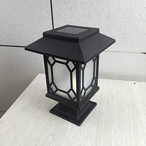 ('Deko-Licht, LED, wasserdicht,Post-Laterne Lampe mit Pfad Garten Landschaft Licht Beleuchtung für Terrasse Hof-Deck, Hof)