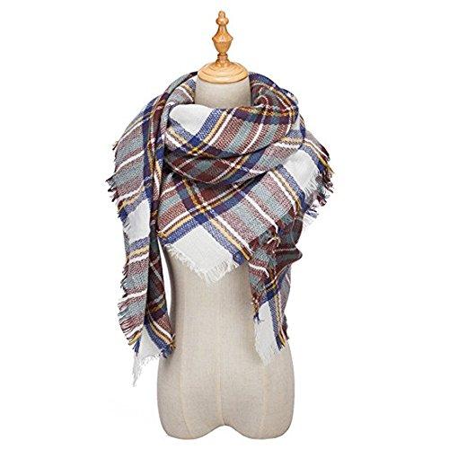 XXL Schal, Canvalite Klassisch Karo Damen Herbst Winter Schal warm, weich, mehrfarbig