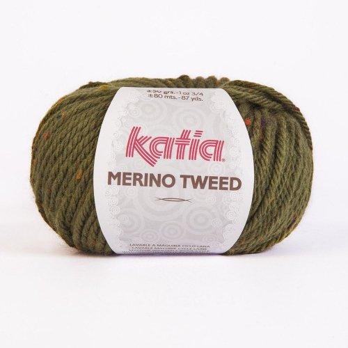 Katia Merino Tweed - Farbe: Verde (402) - 50 g / ca. 80 m Wolle -