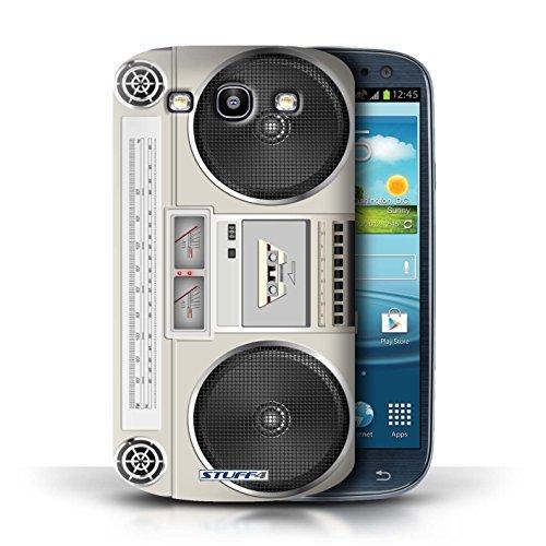 Kobalt® Imprimé Etui / Coque pour Samsung Galaxy S3/SIII / Cassette Vidéo VHS conception / Série Retro Tech Boombox