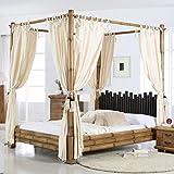 Bambus-Himmelbett 140x200 Bett Himmel asiatisches Ehebett Holzbett Natur