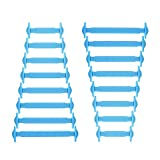Joyshare No Tie Shoelaces für Kinder und Erwachsene Wasserdichte Silikon flache elastische Sportlauf Schnürsenkel mit Multicolor für Sneaker Stiefel Brettschuhe und Freizeitschuhe (Blue)