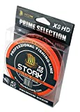 Stork HDx8, 8-Fach geflochtene premium Angelschnur 300m (Orange, 15 lbs / 6.8 kg / 0.14 mm)