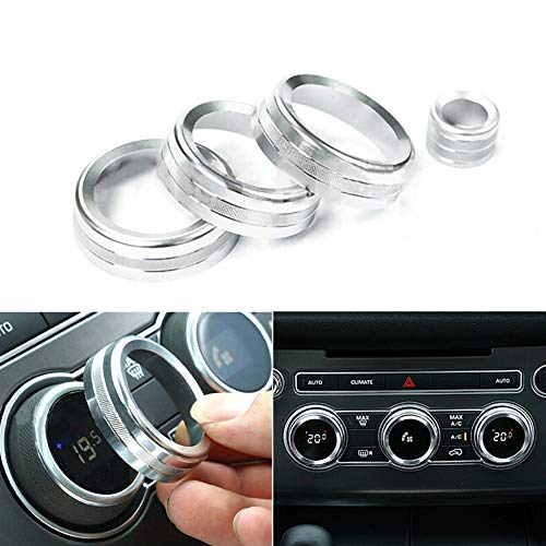 housesweet Aluminiumlegierung Interieur Audio Klimaanlage Drehschalter Ring Steuerknopf Zierblende Knopf Zierblende -