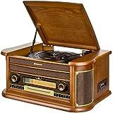 Roadstar HIF-1990BT - Sistema audio con Bluetooth y función encoding, estilo vintage