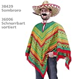 Poncho Rodrigo Mexikaner Gaucho Unisex Erwachsene XL