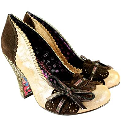 Damen Schuhe Irregular Choice Make My Day High Heel Pumps - Gold