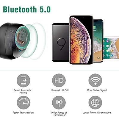 Écouteurs Bluetooth 5.0 Vigorun Oreillette sans Fil Sport 3000mAh Etui de Charge Autonomie 100H Stéréo IPX6 CVC 8.0 Réduction du Bruit Casque Mains-Libres Mic pour iPhone Samsung Huawei iPad Tablette… de Vigorun