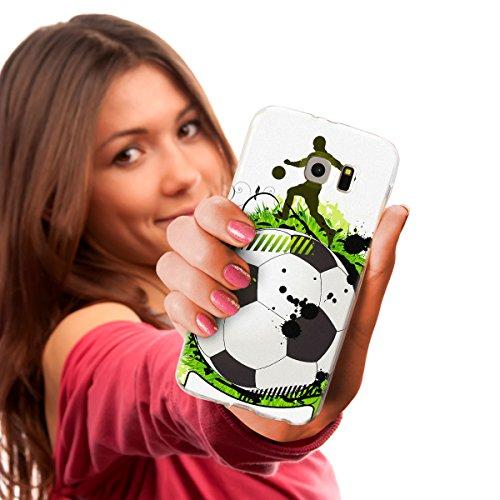 """OOH!COLOR Design Case für IPHONE 6 und 6S 4.7""""  Hülle Silikon Hund JAC002 Dog Mops Grafik Tasche Schutz Case Elastisch Cover Print stylish weiche Etui mit Motiv Dünn Flexibel Fußball SFO006"""