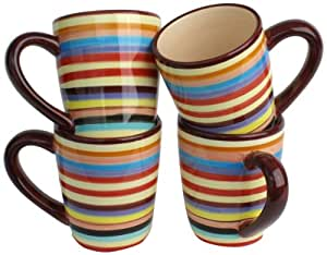 Tabletops unlimited tms m6804 ec mugs in two and a half men style brown set of 4 - Two and a half men mugs ...