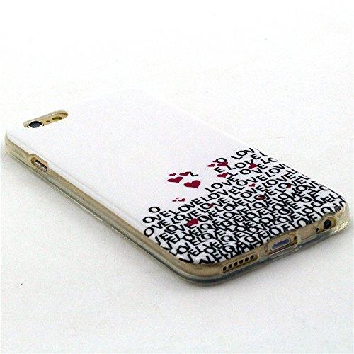 Beiuns Coque en silicone pour Apple iPhone 6 / iPhone 6s(Ecran: 4,7 pouces) TPU Housse Coque - N142 live the life you love N143 beaucoup love