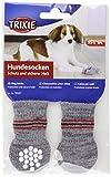 #6: Trixie 19501 Non-Slip Grey Dog Socks, XS-S, 1 Pair