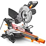 Multipurpose Sliding Mitre Saw, Tacklife Miter Saw 1500W 4500 RMP, Adjustable Cutting Angle