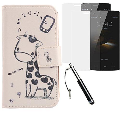 Lankashi Giraffe PU Flip Leder Tasche Für Doogee HomTom HT7 Pro 5.5