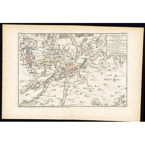 theprintscollector 2Antico maps-battle-belgium-tongeren-sint truiden-luik-borgloon-beaurain-1776