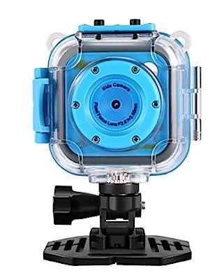 "Kids Waterproof Digital Camera,CamKing CD-BL 1.77"" LCD Screen Kids Digital Camera with Wifi and Video Recorder(Blue)"