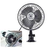 AAPP Shop Auto Fan Fahrzeug Fan Anpassung Saugnapf Auto Kühlung Air Fan 12V Mini Auto Air Fan Sommer Kühlung Air Circulator